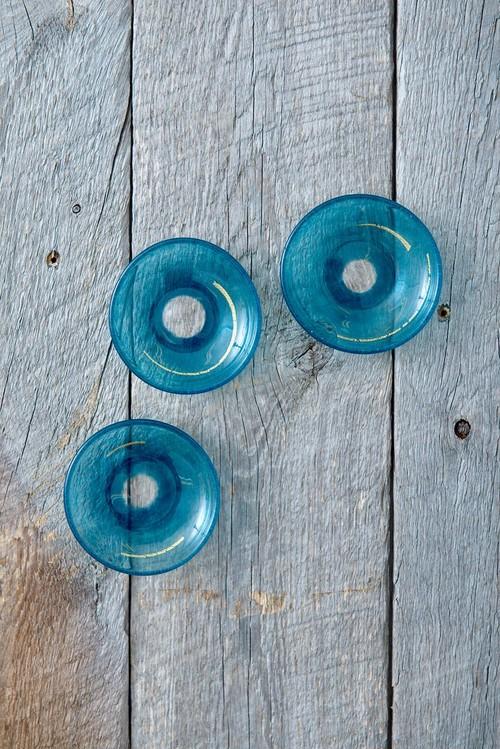 爽  -吹きガラスの豆皿-