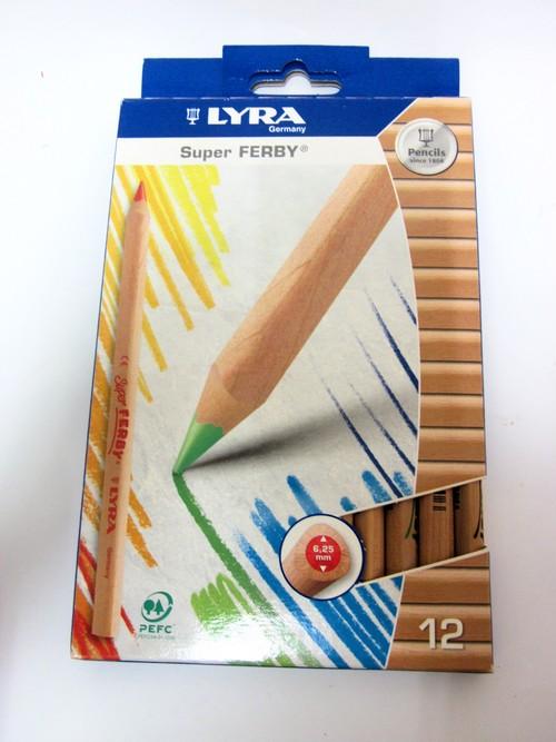 色鉛筆 スーパーファルビー 軸白木12色セット