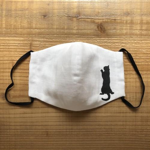 メンズBlack赤ちゃんネコにへばりつかれるDisk1オリジナル立体マスク