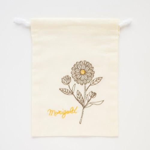 『マリーゴールド』巾着刺繍キット