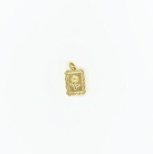 【14K-1-1】14K gold rose charm