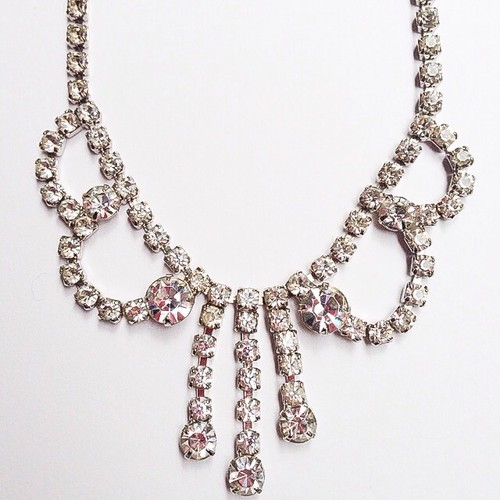 rhinestone design necklace[n-67]