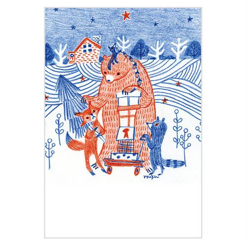 「クリスマスの夜」ポストカード