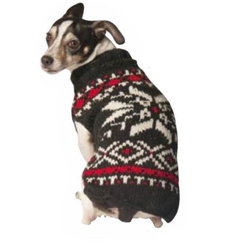 Chilly Dog (チリードッグ) スノーフレーク ドッグセーター ブラック Black Snowflake Dog Sweater