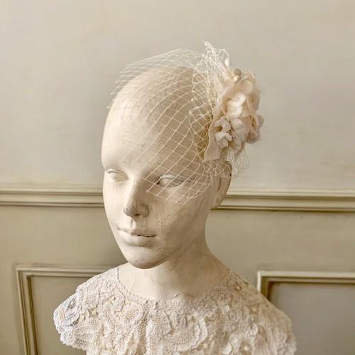 Vintage 布花ヘッドドレス