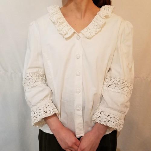 Lace collar tyrol  blouse [K-659]