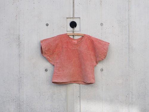 Mojiri sleeve T shirt (Bengara Dye)