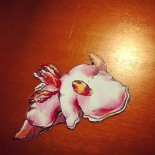 【ウミウシマグネット】フジムスメウミウシ10cm