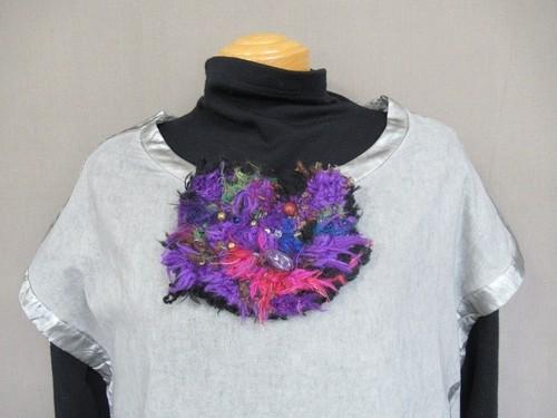 手織りブローチ10