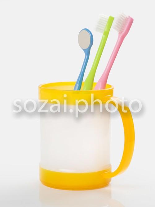 写真素材(歯ブラシとカップ-5129556)