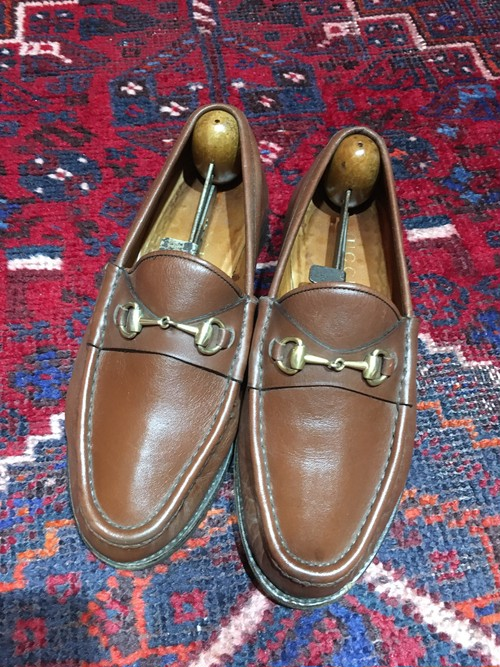 .GUCCI LEATHER HORSE BIT LOAFER MADE IN ITALY/グッチレザーホースビットローファー 2000000034898
