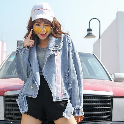 【送料無料】クラッシュデニムジャケット ビックサイズ