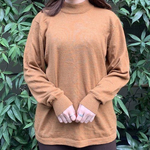 (LOOK) high neck knit tops