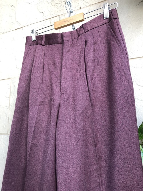 Old burgundy slacks