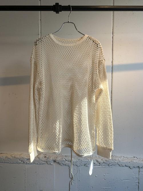 FUMIE=TANAKA mesh long T  (WHITE)