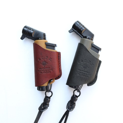 C&C.P.H.EQUIPEMENT MICRO TORCH CASE(Olive oil leather)