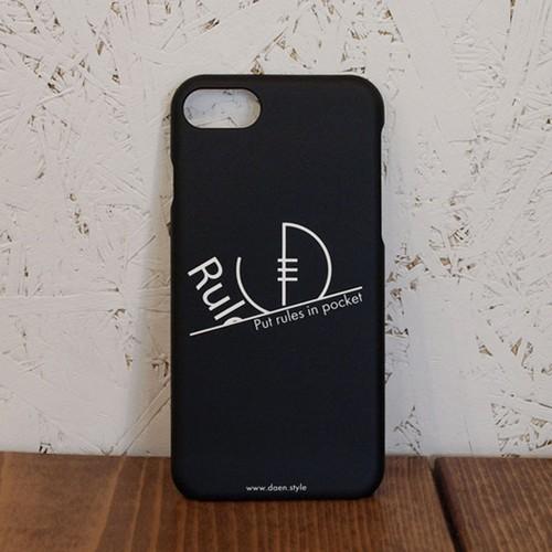 Sense & Spirit of Rugby iPhoneケース / BLACK /レフリ-は反則をポケットにしまう