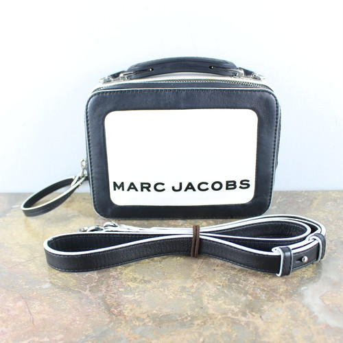 .MARC JACOBS THE BOX LOGO LEATHER 2WAY SHOULDER BAG MADE IN PHILIPPINES/マークジェイコブスザボックスロゴレザー2wayショルダーバッグ 2000000047911