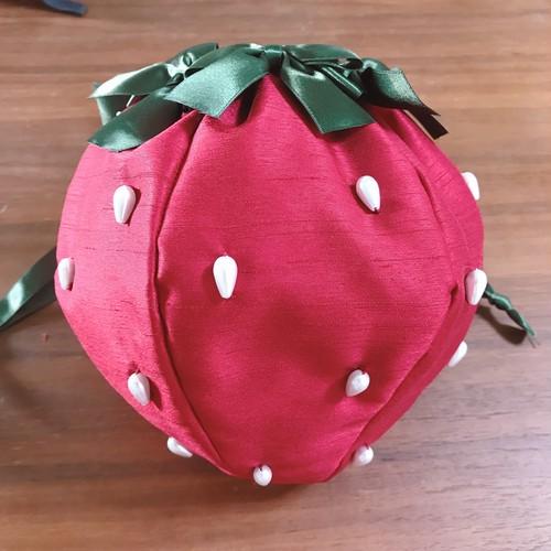 赤いあまおう巾着&ピンク淡雪巾着