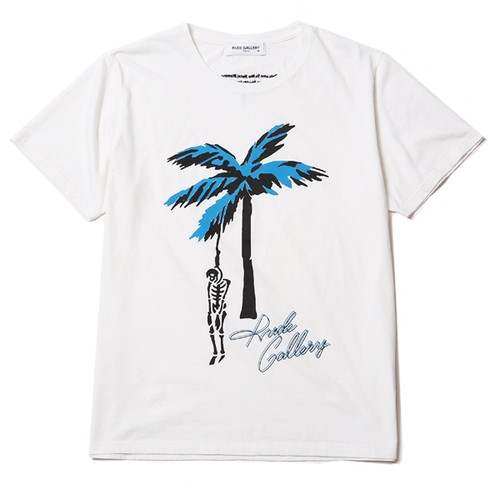 HOTEL FLAMINGO TEE - PALM TREE SKULL (WHITE) / RUDE GALLERY