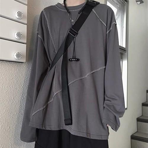 ステッチラインロングTシャツ