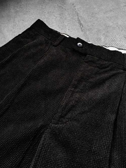 waffle tuck trousers