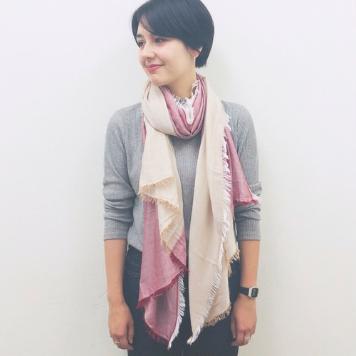 【 import 】TOW-TONE COLOR STOLE
