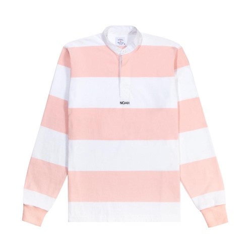 Band Collar Rugby(White/Salmon)