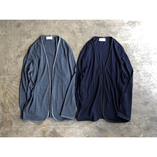 FLISTFIA (フリストフィア) Washable Wool Piping Cardigan