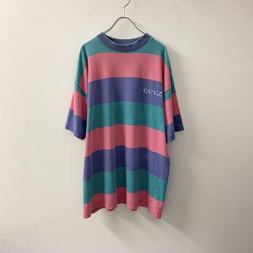 GUYZ ボーダーTシャツ コットン size S USA製 メンズ 古着