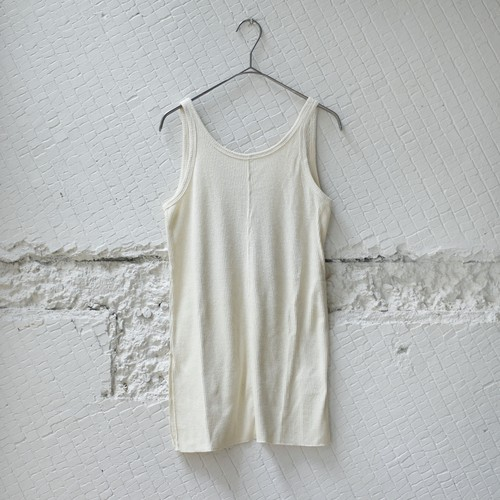 【HAKUJI】NOIL SILK TANK TOP