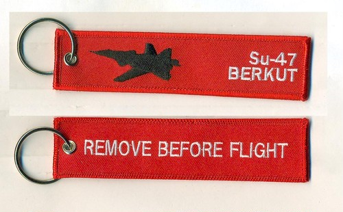 REMOVE BEFORE FLIGHTキーホルダー/Su-47 BERKUT