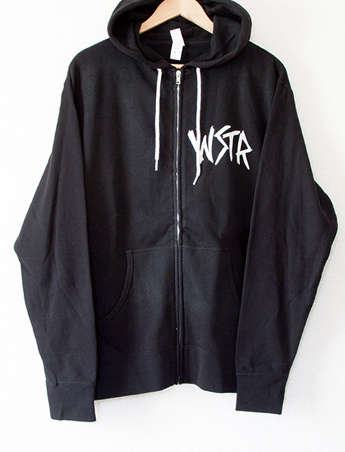 【WSTR】Hate Zip Up Hoodie (Black)