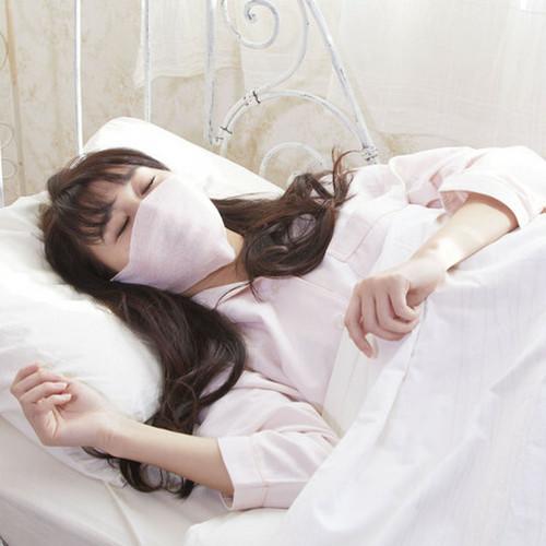 日本製 シルク混ふんわりおやすみマスク<ベージュ>