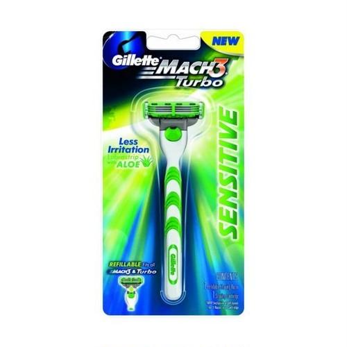 ジレット マッハスリー ターボ センシティブ 髭剃り / Gillette Mach 3 Turbo Sensitive Razor