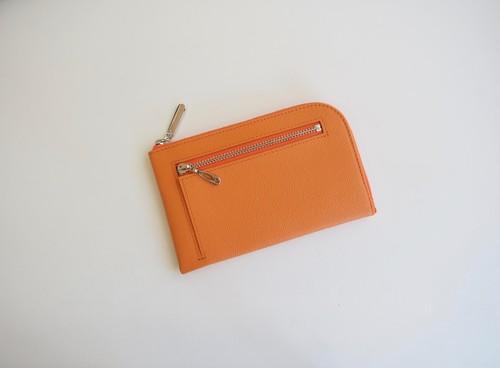 薄くて軽いコンパクトな財布 10枚カードポケット カラフルオレンジ スクイーズ