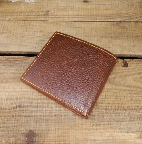 2つ折り財布 札入れ 1点物 イタリアンレザー 手縫い