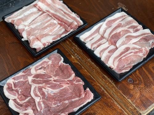 豚ロース、豚肩ロース、豚バラ 3種類 焼肉セット(合計1800g) 千葉県成田市 ひなた提携養豚場より