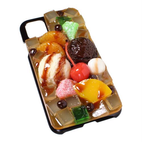 [8000]食品サンプル屋さんのスマホケース(iPhone11、11 Pro、11 Pro Max:あんみつ)【メール便不可】