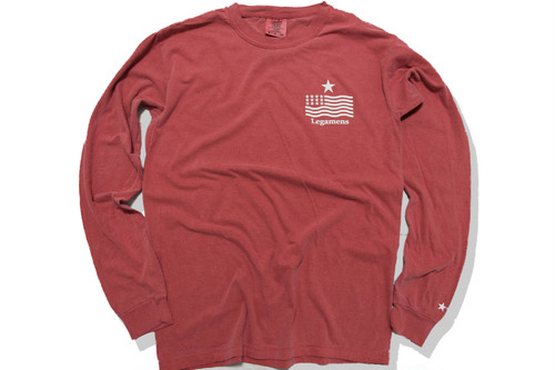 "9月14日受注開始【""USA"" vintage long sleeve】/ red"