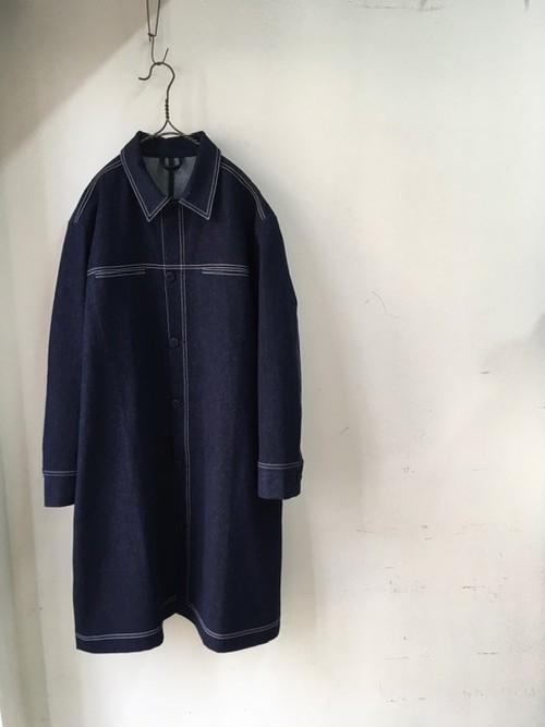 SL - SARA LANZI(Men's) / Denim Coat (サラ ランツィのメンズ、デニムコート)