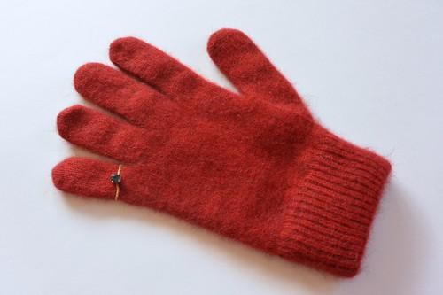 ピンキーリングの手袋 レッド