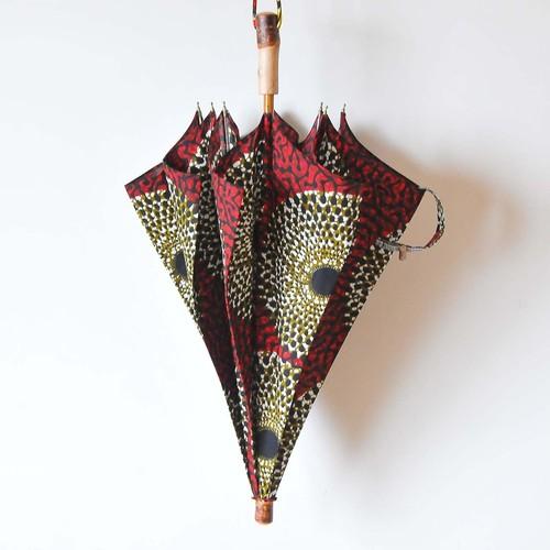 Bon Bon Store アフリカンバティック長傘(桜 007)