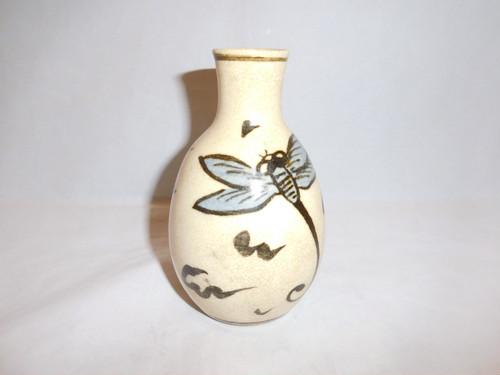 トンボ徳利 one pottery sake bottle
