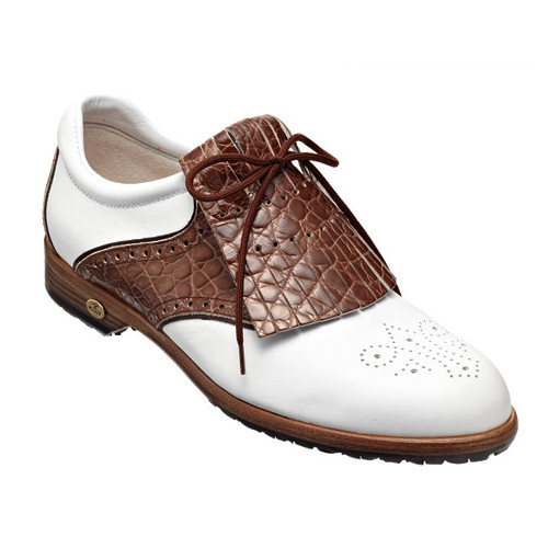 【Ladies'】GRETA white-croc-nut 22cm