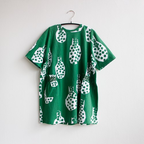 《mina perhonen 2020SS》cidre ドレス / green / 80-100cm
