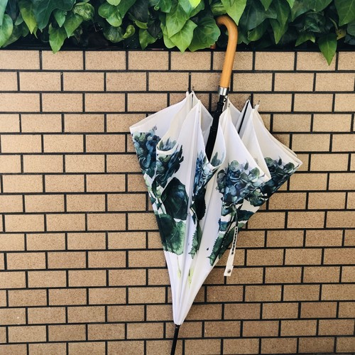 【残1本】柘植彩子オリジナル雨傘「ターコイズウォータードロップ」