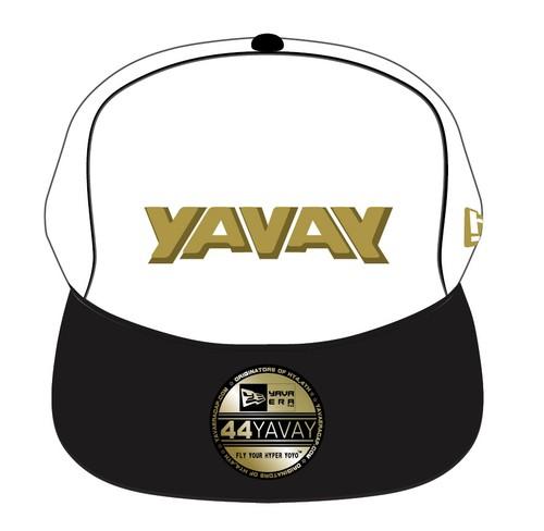 新定番![3D YAVAYロゴ ] ヤヴァエラ キャップ(ホワイトゴールド)