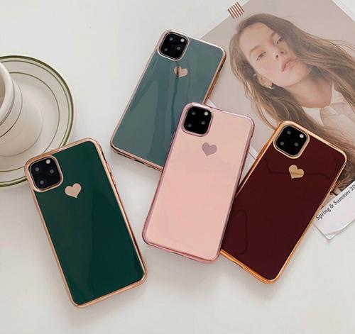 iphone11*スマホケース ミラーハート iPhoneケース iPhoneXR iPhone11pro iPhone11promax iPhoneXS iPhoneX iPhone8