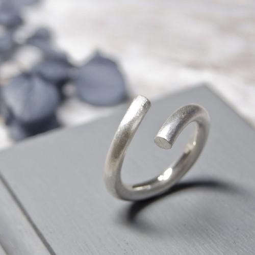 シルバーラウンドプレーンリング フリーサイズ 3.0mm幅 マット 3号~27号|WKS ROUND PLANE RING FREESIZE 3.0 sv matte|SILVER950 銀 指輪 FA-234